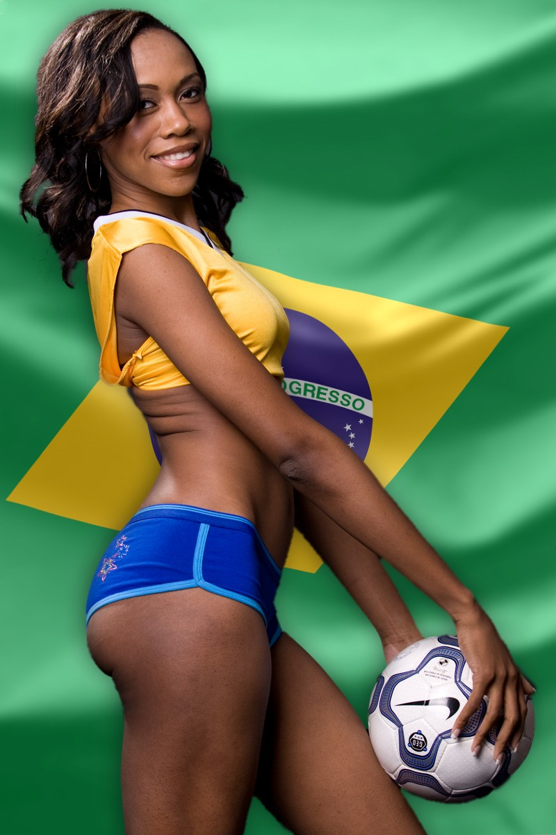 Hot Brazilian Girl within 10 absurdly hot brazilian soccer fans