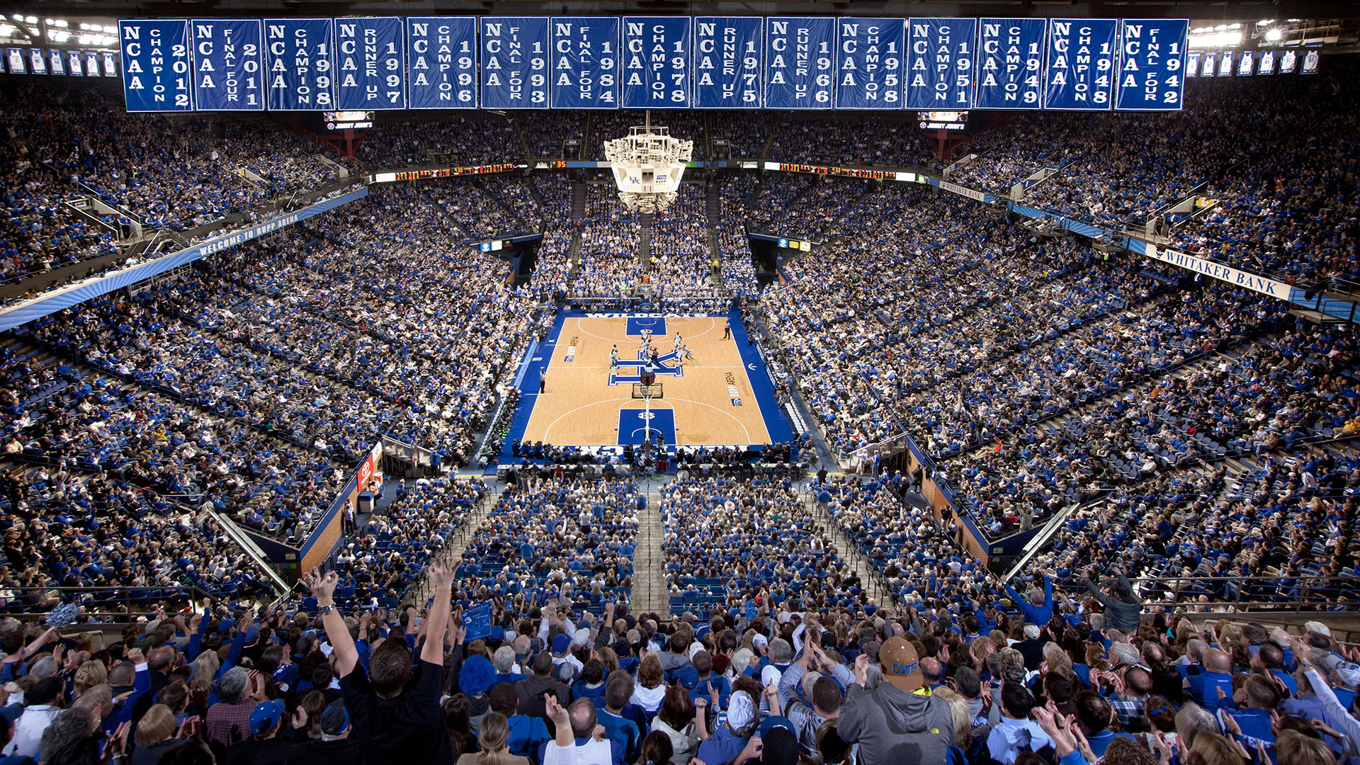 Rupp Arena Rafters Getting Painted Blue: The 9 Most Iconic Basketball Courts In America